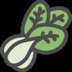 青梗菜(チンゲンサイ)のかわいい手書き風イラストアイコン