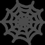 [ハロウィン]蜘蛛(クモ)の巣のかわいい手書き風イラストアイコン