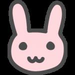 兎(ウサギ)のかわいい手書き風イラストアイコン