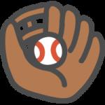 野球のグローブとボールのかわいいイラストアイコン