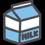 牛乳パックのかわいい手書き風イラストアイコン