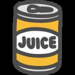 缶ジュースのかわいい手書き風イラストアイコン