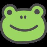 蛙(カエル)のかわいい手書き風イラストアイコン