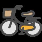 自転車(ママチャリ)のかわいい手書き風イラストアイコン