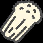 えのき茸のかわいい手書き風イラストアイコン