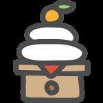 [お正月]鏡餅のかわいい手書き風イラストアイコン