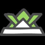 [端午の節句・こどもの日]緑の折り紙兜(かぶと)のかわいい手書き風イラストアイコン