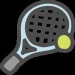 テニス(ラケット・ボール)のイラストアイコン