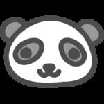 パンダのかわいい手書き風イラストアイコン