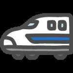 新幹線のかわいい手書き風イラストアイコン