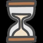 砂時計(待ち状態)のかわいい手書き風イラストアイコン