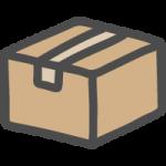 段ボール箱(荷物マーク)のかわいい手書き風イラストアイコン