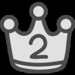 銀の王冠(順位マーク・ランキング2位)のかわいい手書き風イラストアイコン