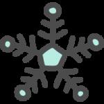 雪の結晶のかわいい手書き風イラストアイコン