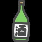日本酒(一升瓶)のかわいい手書き風イラストアイコン