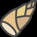 筍(竹の子・たけのこ)のかわいい手書き風イラストアイコン