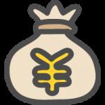 お金の袋(¥・円)のかわいい手書き風イラストアイコン