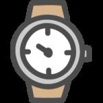 腕時計のかわいい手書き風イラストアイコン