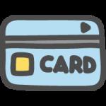 クレジットカード・キャッシュカードのかわいい手書き風イラストアイコン<水色>