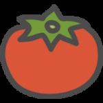トマトのかわいい手書き風イラストアイコン