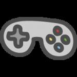 テレビゲームのコントローラーのかわいい手書き風イラストアイコン