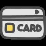 クレジットカード・キャッシュカードのかわいい手書き風イラストアイコン<銀色・シルバー>