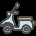 スクーター(原付きバイク)のかわいいイラストアイコン