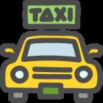 タクシーのイラストアイコン(前・正面)