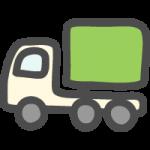 運送トラック(配達・配送マーク)のかわいい手書き風イラストアイコン