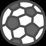 サッカーボールのかわいい手書き風イラストアイコン