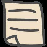 書類・メモ用紙のかわいい手書き風イラストアイコン