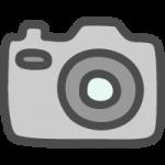 カメラのかわいいイラストアイコン