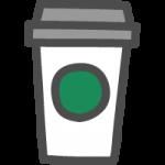 カフェタンブラー(コーヒーの容器)のかわいい手書き風イラストアイコン