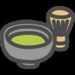 抹茶(茶碗と茶筅)のイラストアイコン