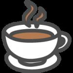 コーヒーカップ(カフェマーク)のかわいい手書き風イラストアイコン