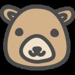 熊(クマ)のかわいい手書き風イラストアイコン