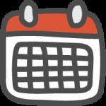 カレンダー(スケジュール)のかわいい手書き風イラストアイコン