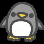 ペンギンのかわいい手書き風イラストアイコン