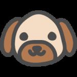 犬(イヌ)のかわいい手書き風イラストアイコン