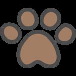 犬・猫の足跡のイラストアイコン