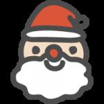 [クリスマス]サンタクロース(サンタさん)のかわいい手書き風イラストアイコン