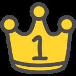金の王冠(順位マーク・ランキング1位)のかわいい手書き風イラストアイコン