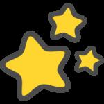 星屑(ほしくずマーク)のかわいい手書き風イラストアイコン