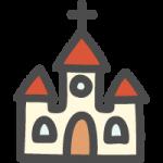 教会のかわいい手書き風イラストアイコン