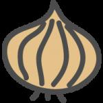 玉葱(たまねぎ)のかわいい手書き風イラストアイコン