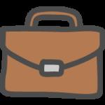 ビジネスバッグ・鞄(かばん)のかわいい手書き風イラストアイコン