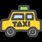 タクシーのイラストアイコン(横向き)