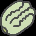 白菜(はくさい)のかわいい手書き風イラストアイコン