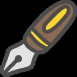 万年筆のかわいい手書き風イラストアイコン