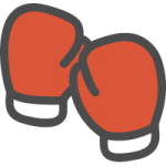 ボクシンググローブのイラストアイコン